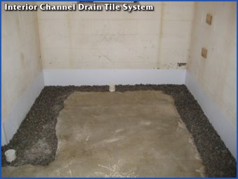 Interior Channel Basement Waterproofing Drain Tile System